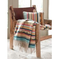 Pendleton Chimayo Coral Fringed Throw