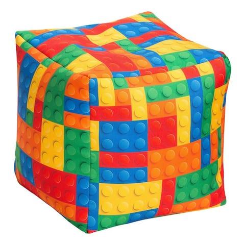 Cube Bricks Bean Bag Pouf Ottoman