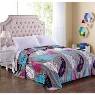 Contemporary Lightweight Microfiber Printed Blanket