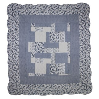 Periwinkle Dash Throw/Lap Quilt