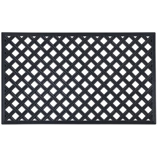 Link to Wrought Iron Rubber Mat 18x30 - Lattice Similar Items in Decorative Accessories