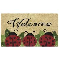 Printed Coir Door Mat 18x30 - Ladybug