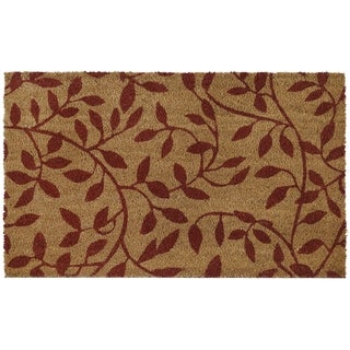 Printed Coir Door Mat 18x30 - Leaves