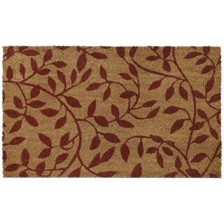 Printed Coir Door Mat 18x30 - Leaves
