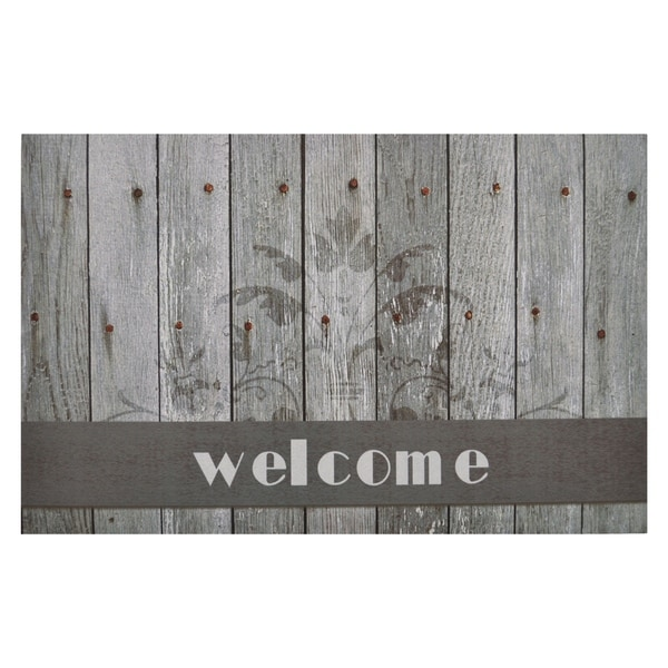 Boardwalk Welcome Outdoor Rubber Entrance Mat 18 in. x 30 in.