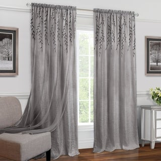 Link to Achim Willow Rod Pocket Window Curtain Panel Similar Items in Window Treatments