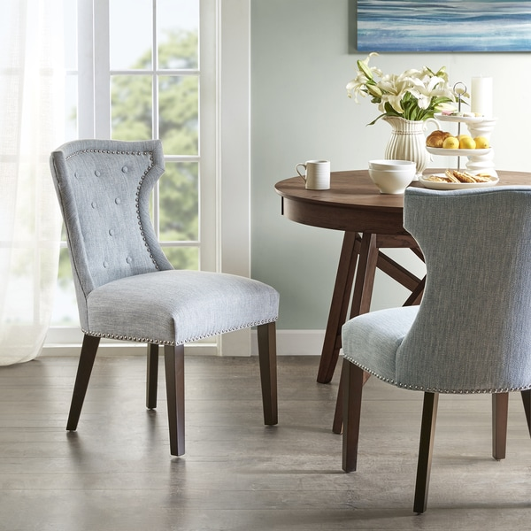 Shop Madison Park Mervin Light Blue Dining Chair Set Of 2