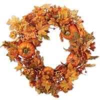 Leaves and Pumpkin Wreaths