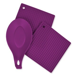Purple 3 Piece Kitchen Accessory Set