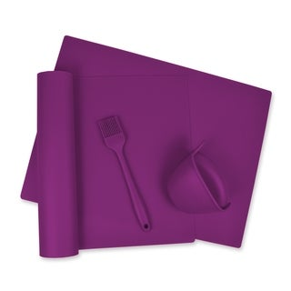 Purple 4 Piece Kitchen Baking Set