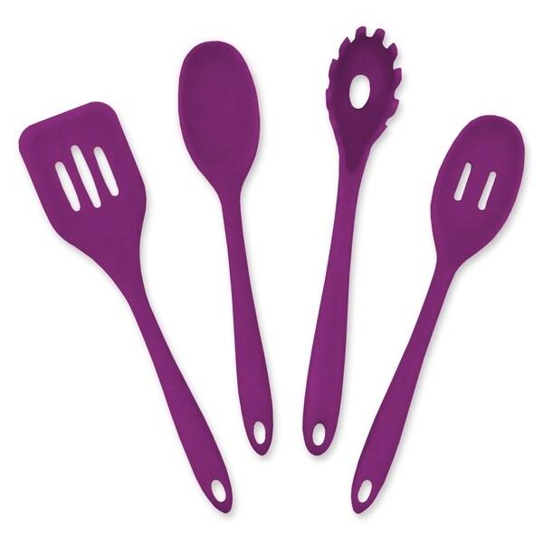 Purple 4 Piece Kitchen Cooking Set