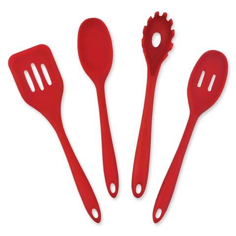 Red 4 piece Kitchen Cooking Set