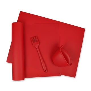 Red 4 Piece Kitchen Baking Set