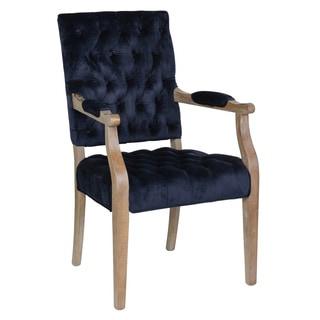 Judith Navy Tufted Velvet Arm Chair by Kosas Home