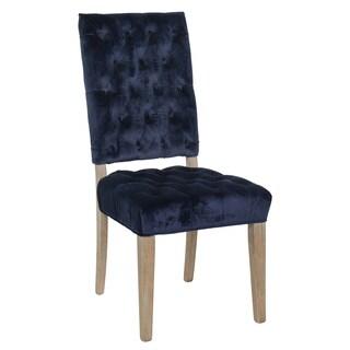 Judith Navy Tufted Velvet Side Chair by Kosas Home