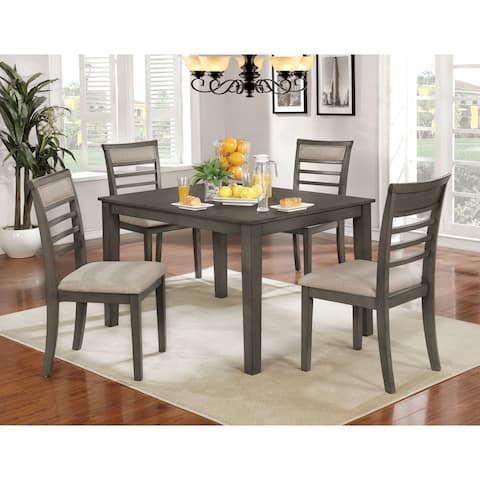 Furniture of America Keso Rustic Solid Wood 5-piece Dining Set