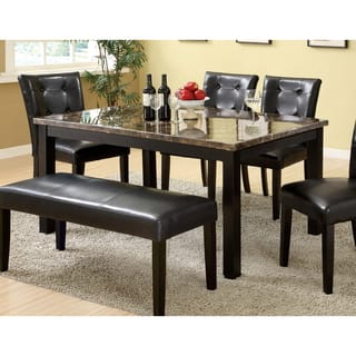 Marble kitchen dining room tables for less overstock furniture of america perthien contemporary black faux marble top 60 inch dining table workwithnaturefo