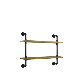 Urban Trends Collection UTC27739 Contemporary White Finish Natural Wood Shelf