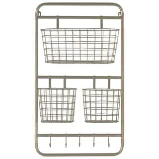 UTC32266 Metal Shelf Basket Metallic Finish Gold