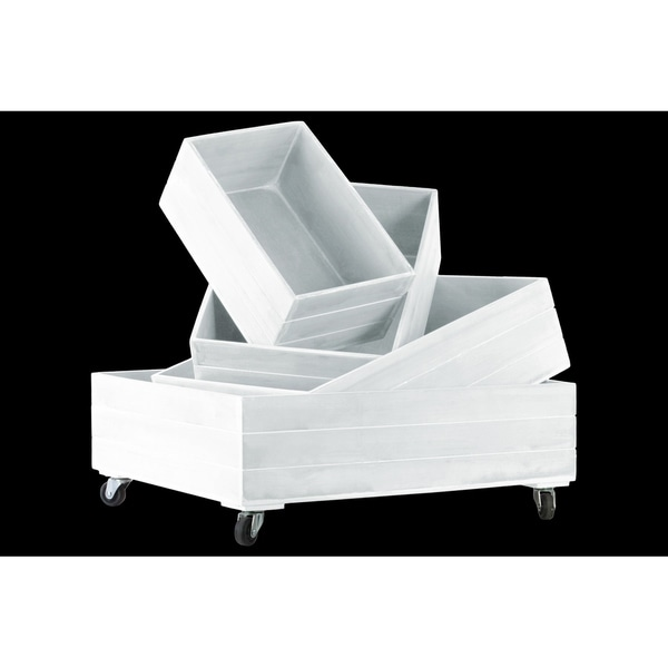UTC41040 Wood Tray Coated Finish White