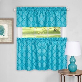 Colby Window Curtain Tier Pair and Valance Set