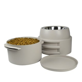 OurPets Single Adjustable Store-N-Feed M/L