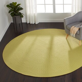 Indoor/ Outdoor Hand-woven Justin Rug (7'9 x 7'9 Round) (5 options available)