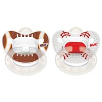 NUK Sports Orthodontic Pacifier - 18-36 Months - 2 Pack - Football/Baseball