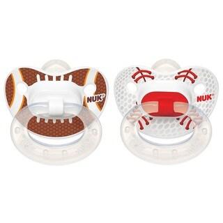 NUK Sports Orthodontic Pacifier - 18-36 Months - 2 Pack - Football/Baseball