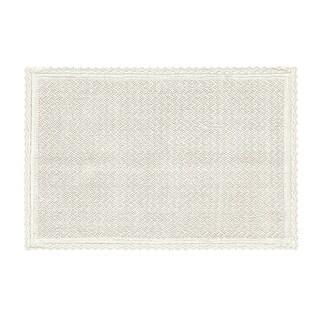 Five Queens Court Sonia Cotton Bath Rug With Crochet Trim
