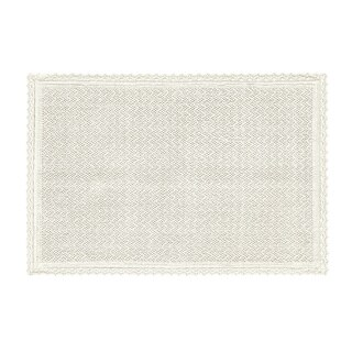 Five Queens Court Sonia Cotton Bath Rug With Crochet Trim