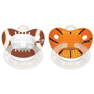 NUK Sports Orthodontic Pacifier - 18-36 Months - 2 Pack - Football/Basketball
