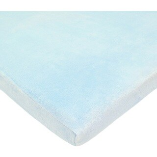 American Baby Company Heavenly Soft Chenille Cradle Sheet - Blue - 2 Pack