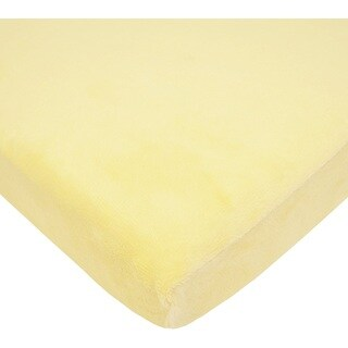 American Baby Company Heavenly Soft Chenille Bassinet Sheet - Maize - 2 Pack