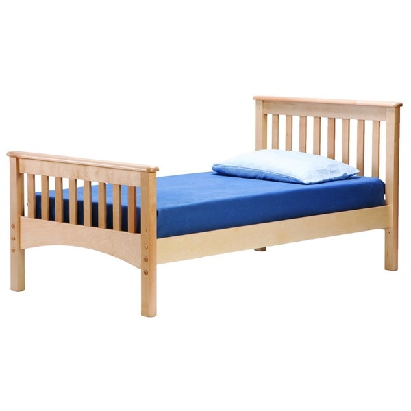 Mission Twin Bed, Natural