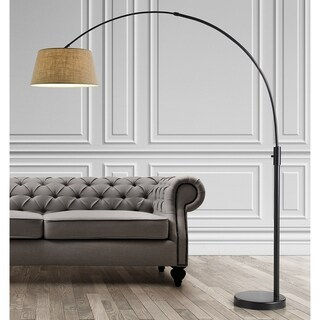 Orbita 82-In Retractable Arch Dimmable Floor Lamp include with15W LED Bulb and Empire Shade (3 options available)