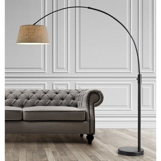 Orbita 82-In Retractable Arch Dimmable Floor Lamp include with15W LED Bulb and Empire Shade