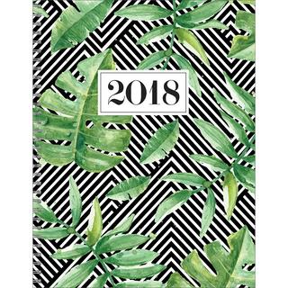 2018 Striped Jungle Large Weekly Monthly Planner