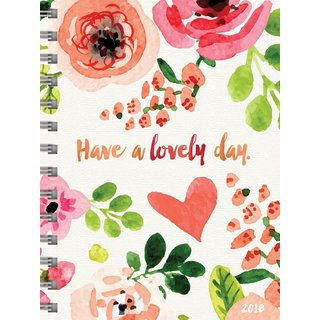 2018 Lovely Day Medium Weekly Monthly Planner