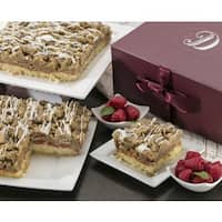 Dulcet Scrumptious Raspberry Crumb Cake- Top Gift Basket for Men and Women.