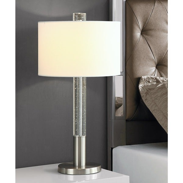 "FUSION 30""H Bubble Crystal Table LAMP"