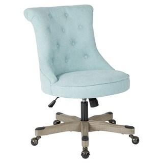 Porch & Den Joliet Tufted Home Office Chair (sky)