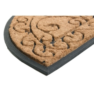 Imports Direct Decorative Artistic Rubber Back Door Mat