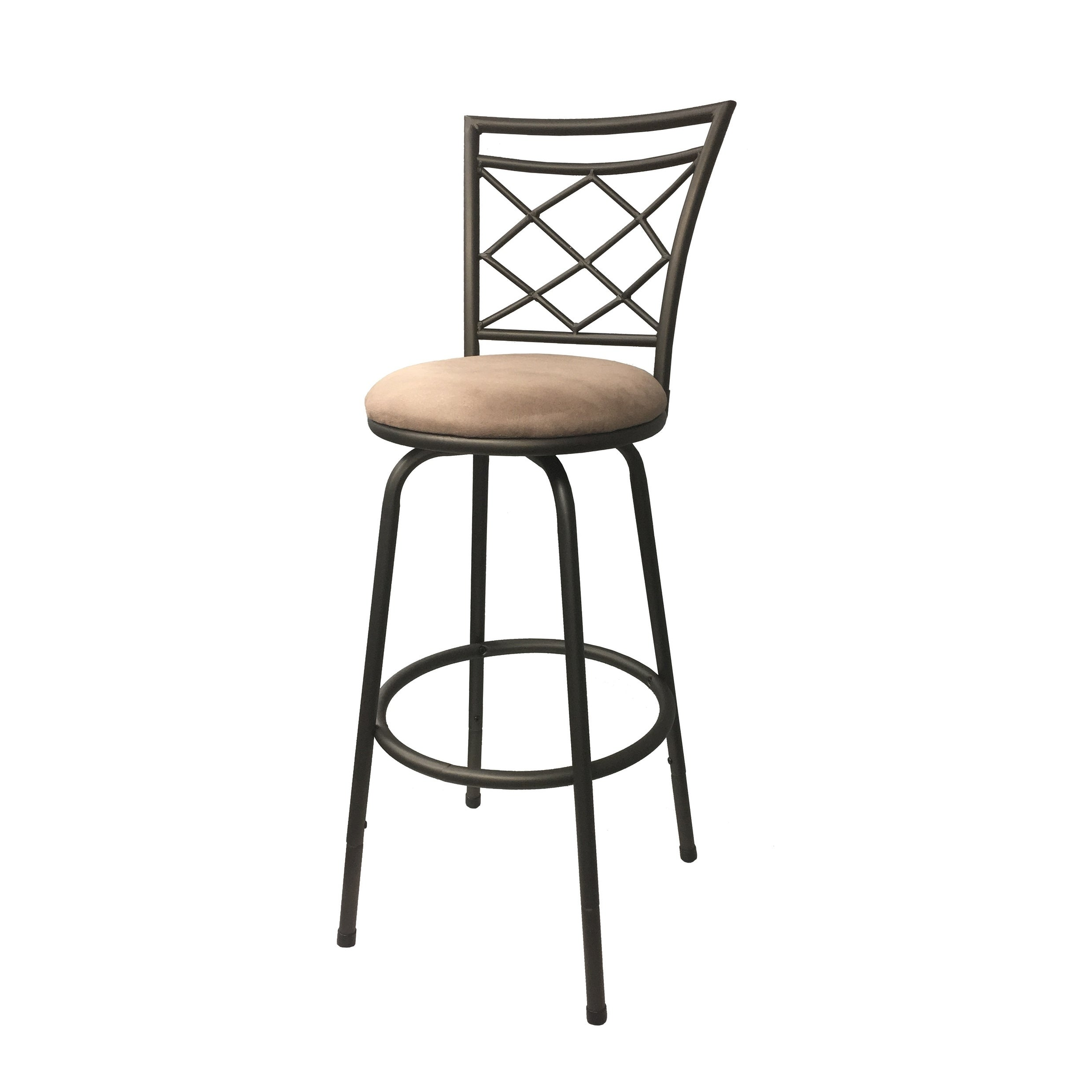 Swell Halfy Round Seat Counter To Bar Height Adjustable 360 Degree Swivel Metal Bar Stool Short Links Chair Design For Home Short Linksinfo