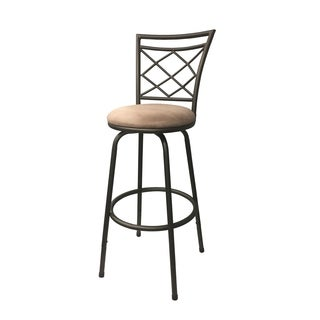Halfy Round Seat Counter-to-Bar Height Adjustable 360 Degree Swivel Metal Bar Stool