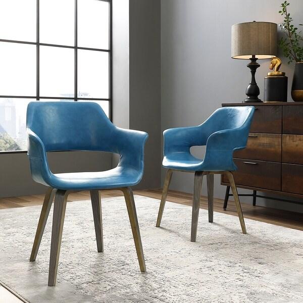 Corvus Patrizio Mid-century Modern Accent Chair (Set of 2)