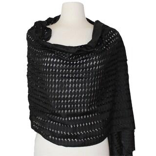Open Weave Silk Viscose Scarf