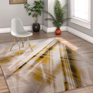 Well Woven Modern Stripes Beige Area Rug (7'10 x 10'6)