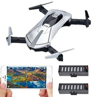 F8 Wifi FPV Camera Folding, Pocket-sized Selfie Drone With Voice Controls, Altitude Hold, Path Control, Two Batteries (Silver)|https://ak1.ostkcdn.com/images/products/17954489/P24132012.jpg?impolicy=medium