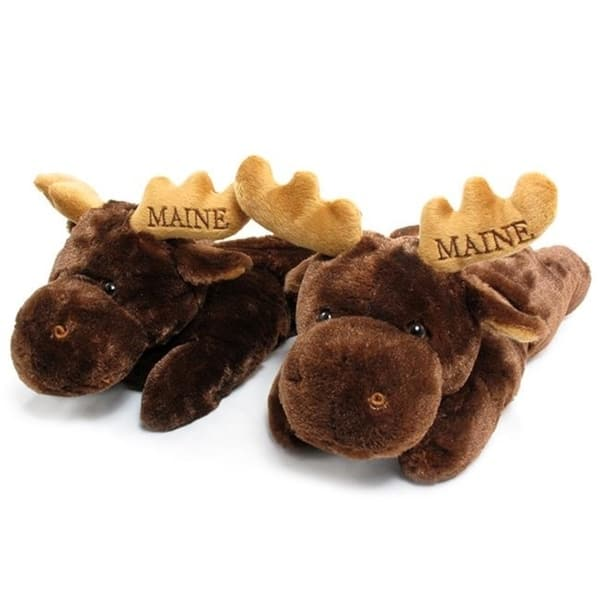 Brown Animal Slippers Moose Slippers Adult /& Kids Sizes In Stock